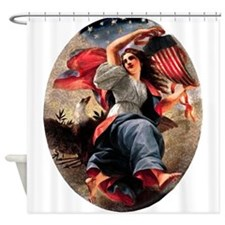 Lady Liberty Shower Curtain