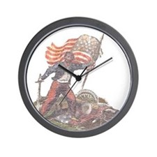 Civil War Patriot Wall Clock