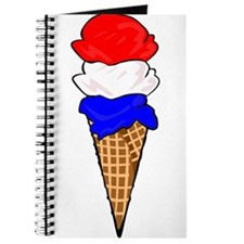 Red White and Blue Ice Cream Journal