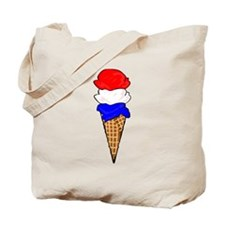 Red White and Blue Ice Cream Tote Bag