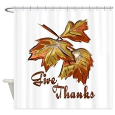 Autumn Give Thanks Shower Curtain