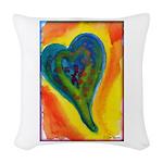 Bright Valentine Woven Throw Pillow