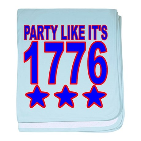 Party Like Its 1776 baby blanket
