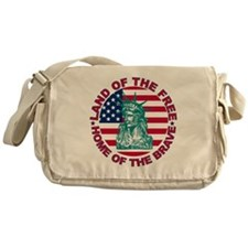 Land of the Free Home Of The Brave Messenger Bag