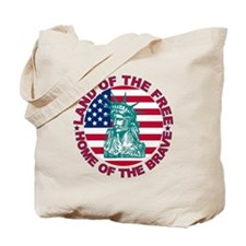 Land of the Free Home Of The Brave Tote Bag
