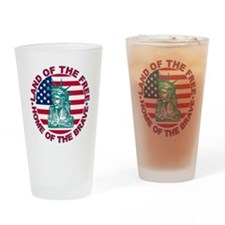 Land of the Free Home Of The Brave Drinking Glass