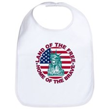 Land of the Free Home Of The Brave Bib