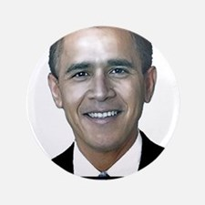 """George_obama.png 3.5"""" Button"""