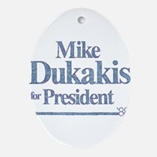 MikeDukakis.png Ornament (Oval)