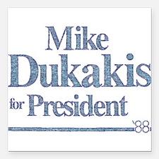 "MikeDukakis.png Square Car Magnet 3"" x 3"""