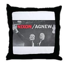 nixonagnew.png Throw Pillow