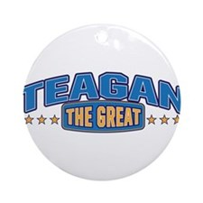 The Great Teagan Ornament (Round)