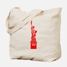 Red Statue of Liberty Tote Bag