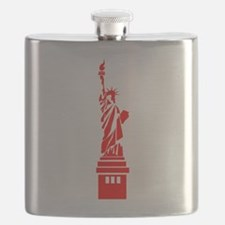 Red Statue of Liberty Flask