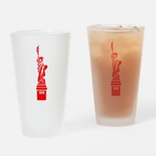 Red Statue of Liberty Drinking Glass