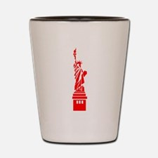 Red Statue of Liberty Shot Glass