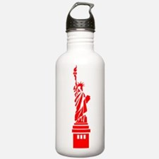 Red Statue of Liberty Water Bottle