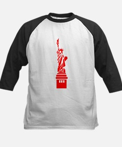 Red Statue of Liberty Baseball Jersey
