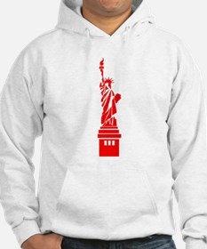 Red Statue of Liberty Hoodie