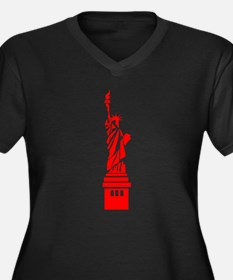 Red Statue of Liberty Plus Size T-Shirt