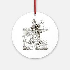 1895NicaraguaCanalCartoon.png Ornament (Round)
