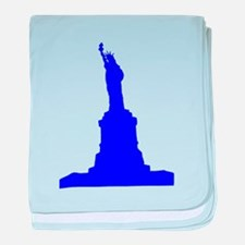 Statue of Liberty Blue Silhouette baby blanket