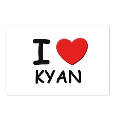 I love Kyan Postcards (Package of 8)