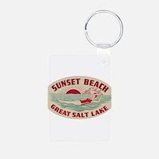 Sunset Beach Salt Lake Keychains