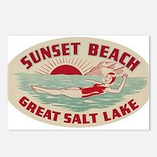 Sunset Beach Salt Lake Postcards (Package of 8)