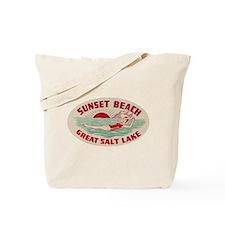 Sunset Beach Salt Lake Tote Bag