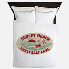 Sunset Beach Salt Lake Queen Duvet