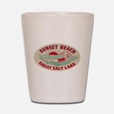 Sunset Beach Salt Lake Shot Glass