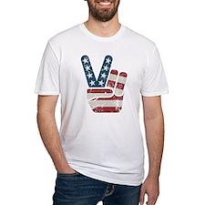 Peace Sign USA Vintage Shirt