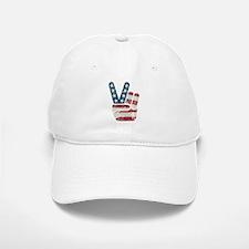 Peace Sign USA Vintage Baseball Baseball Cap