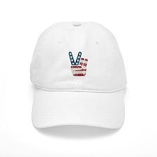 Peace Sign USA Vintage Baseball Cap