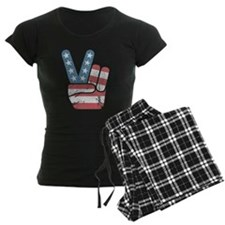 Peace Sign USA Vintage Pajamas