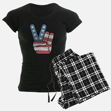 Peace Sign USA Vintage Pajamas