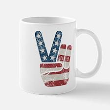 Peace Sign USA Vintage Mug