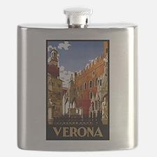 Vintage Verona Italy Travel Flask