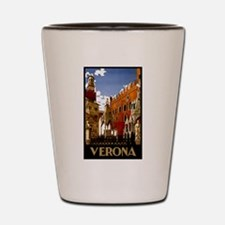 Vintage Verona Italy Travel Shot Glass