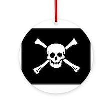 Skull & Bones Ornament (Round)