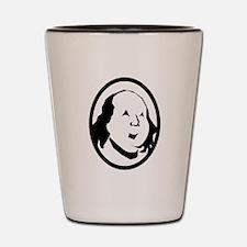 Benjamin Franklin Portrait Shot Glass