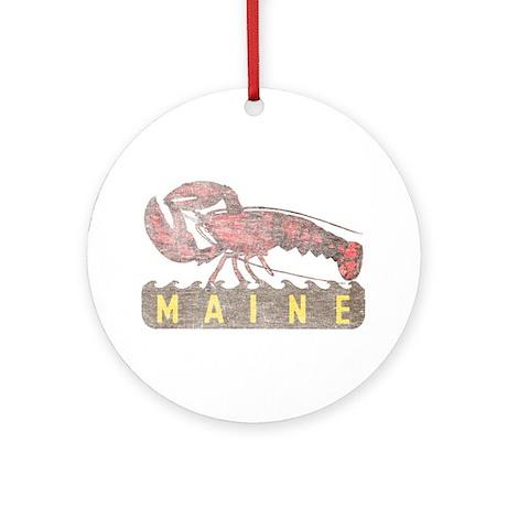 Vintage Maine Lobster Ornament (Round)