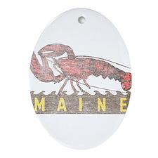 Vintage Maine Lobster Ornament (Oval)