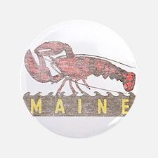 "Vintage Maine Lobster 3.5"" Button (100 pack)"