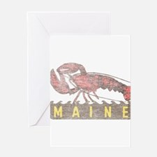 Vintage Maine Lobster Greeting Card