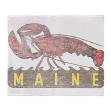 Vintage Maine Lobster Throw Blanket