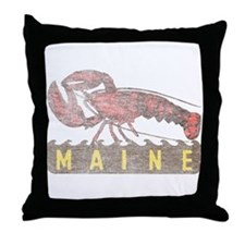 Vintage Maine Lobster Throw Pillow