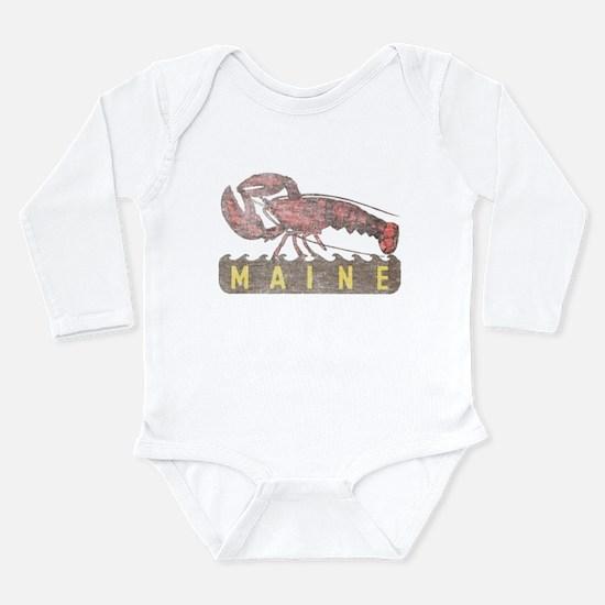 Vintage Maine Lobster Long Sleeve Infant Bodysuit