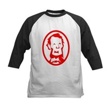 Red Abraham Lincoln Portrait Baseball Jersey